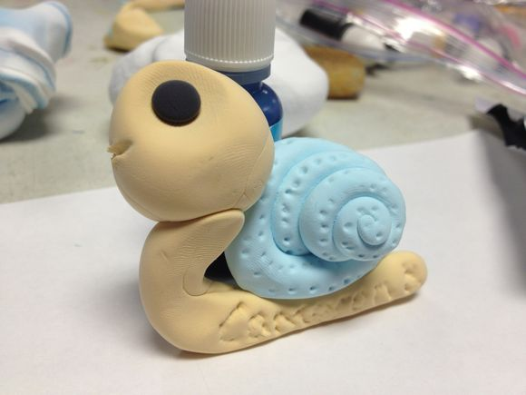 Simply Pressed Clay - Snail